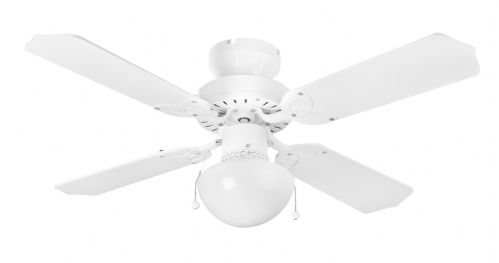 "Eurofans Rimini 42"" White Ceiling Fan +  Light 111092"